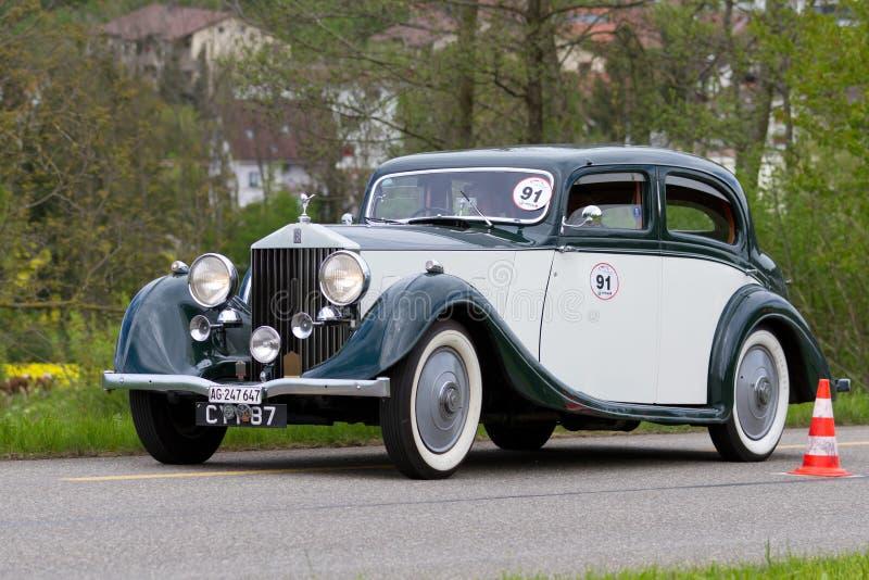 Carro Rolls royce 25/30 do vintage de 1936 imagens de stock royalty free