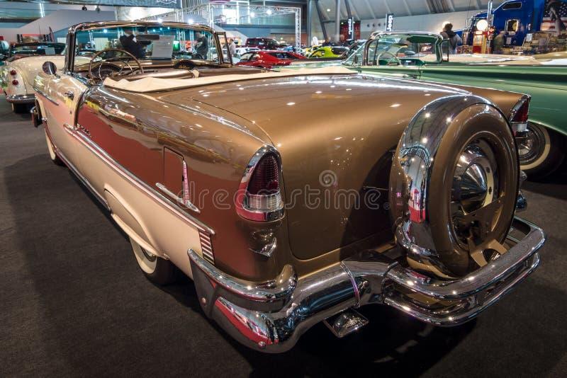Carro sem redução Chevrolet Bel Air Convertible, 1955 imagem de stock royalty free