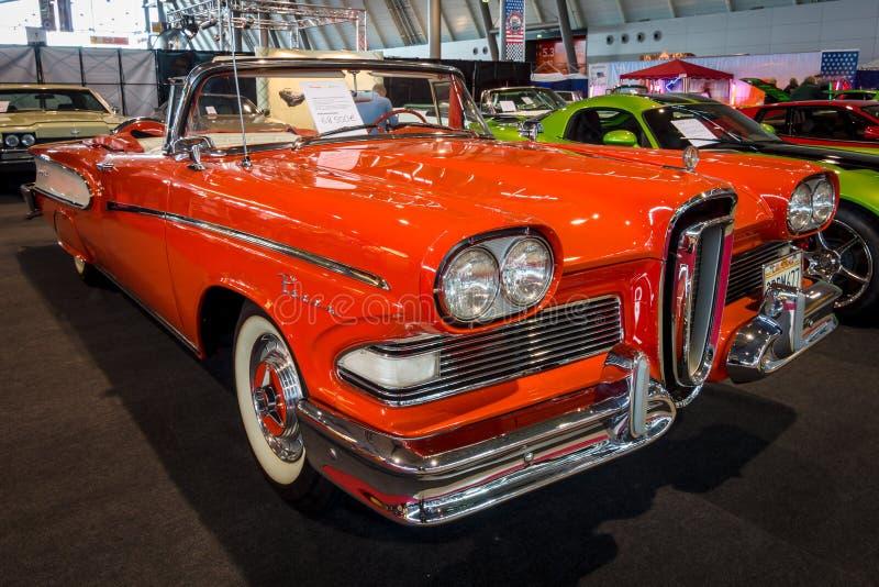 Carro sem redução Edsel Pacer Convertible, 1958 fotos de stock royalty free