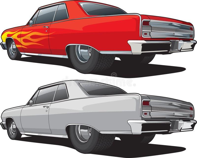 Carro Sideview do músculo ilustração stock