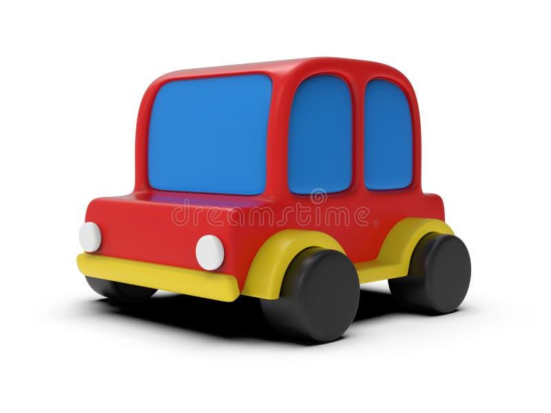Carro simples do brinquedo isolado no branco 3d rendem a ilustração foto de stock