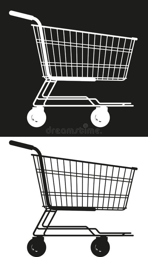 Carro simples do mercado ilustração stock