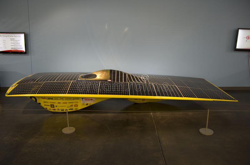 Carro solar foto de stock
