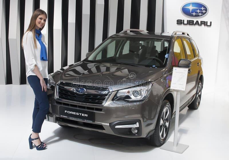 Carro SUBARU-FORESTER fotos de stock royalty free