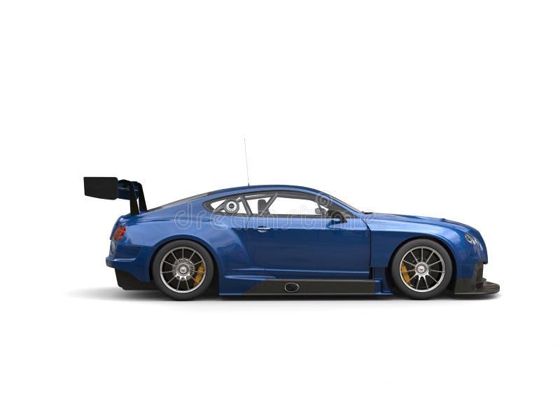 Carro super da raça moderna impressionante dos azuis marinhos ilustração royalty free