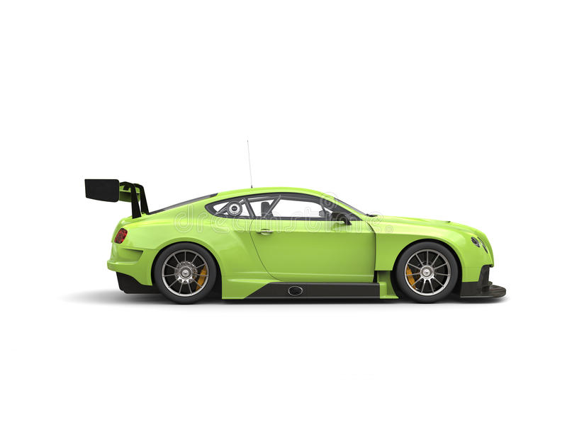 Carro super da raça verde louca moderna impressionante ilustração royalty free