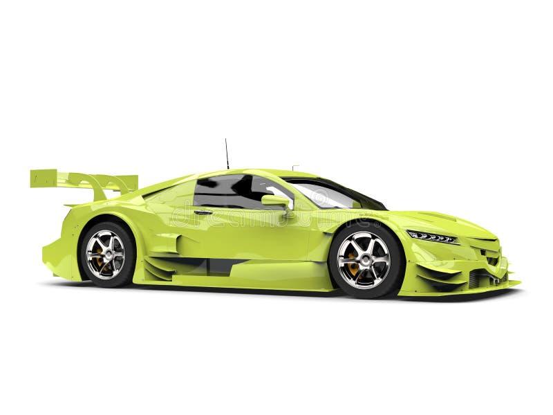 Carro super dos esportes modernos do verde-lima ilustração do vetor
