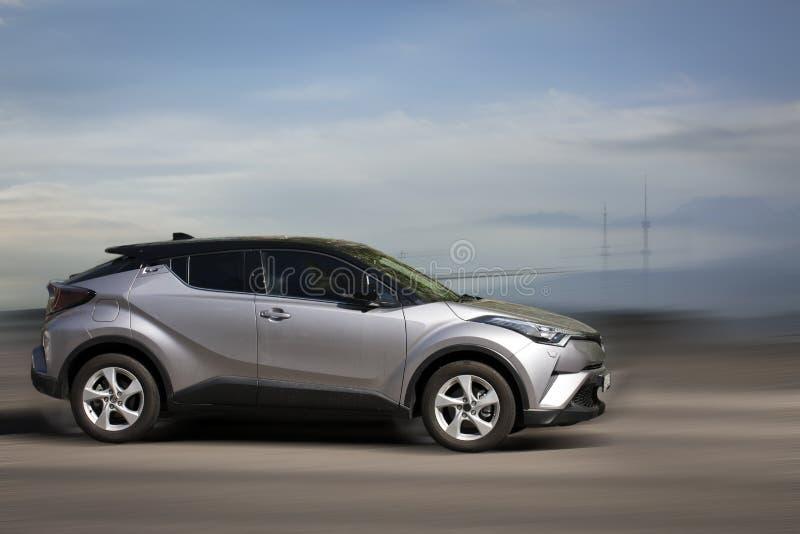 Carro Toyota prata foto de stock