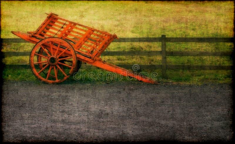 Carro traído por caballo libre illustration