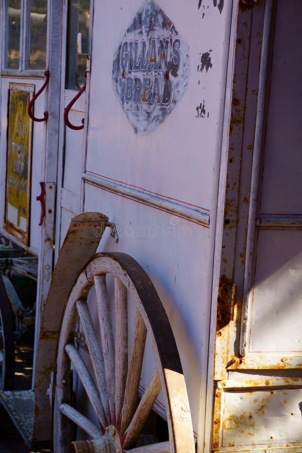 Carro traído por caballo de la leche fotografía de archivo