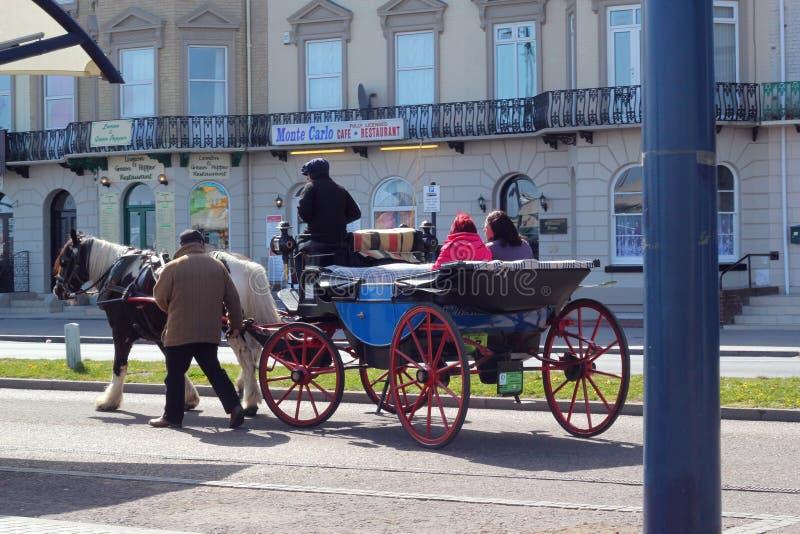 Carro traído por caballo Great Yarmouth. imagenes de archivo