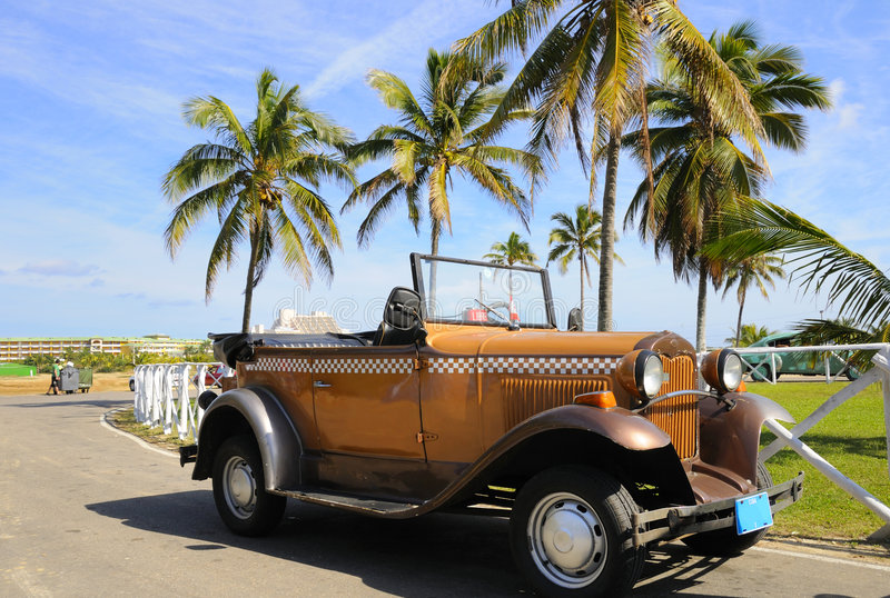 Carro tropical do vintage imagem de stock