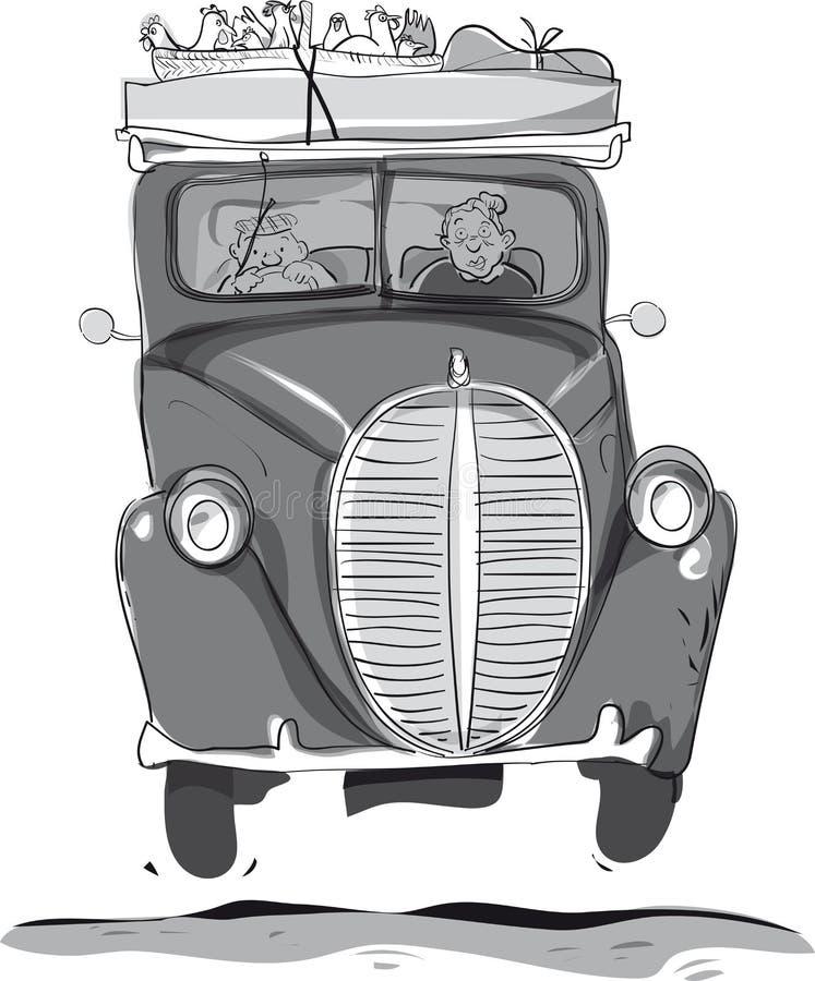 Carro velho ilustração royalty free