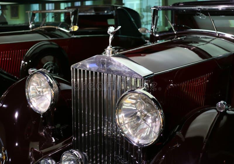 Carro velho de Rolls royce imagem de stock