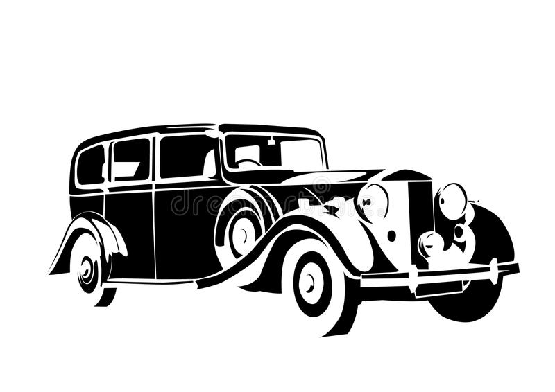 Carro velho do vintage ilustração stock