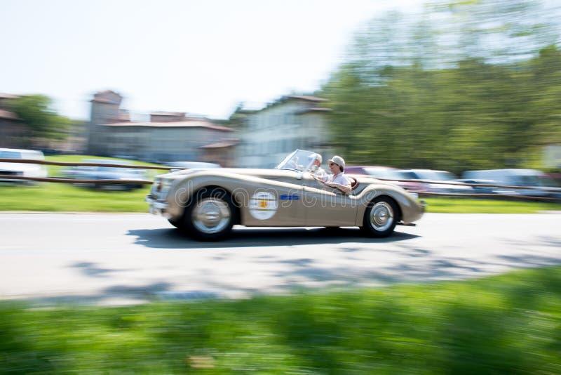 Carro velho em Grand Prix hist?rico em Bergamo 2019 fotos de stock royalty free