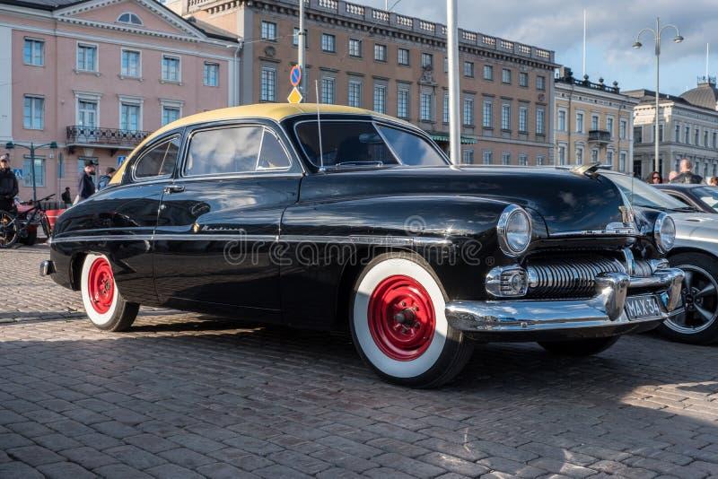 Carro velho Mercury Monterey de Helsínquia, Finlandia imagem de stock