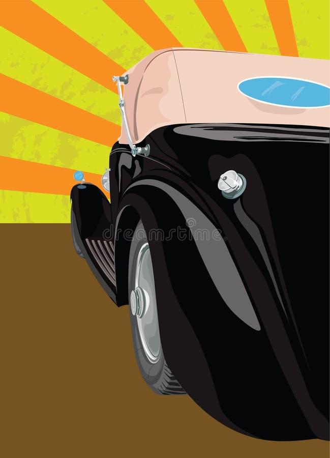 Carro velho preto ilustração do vetor
