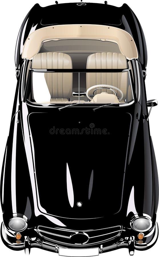 Carro velho preto imagens de stock