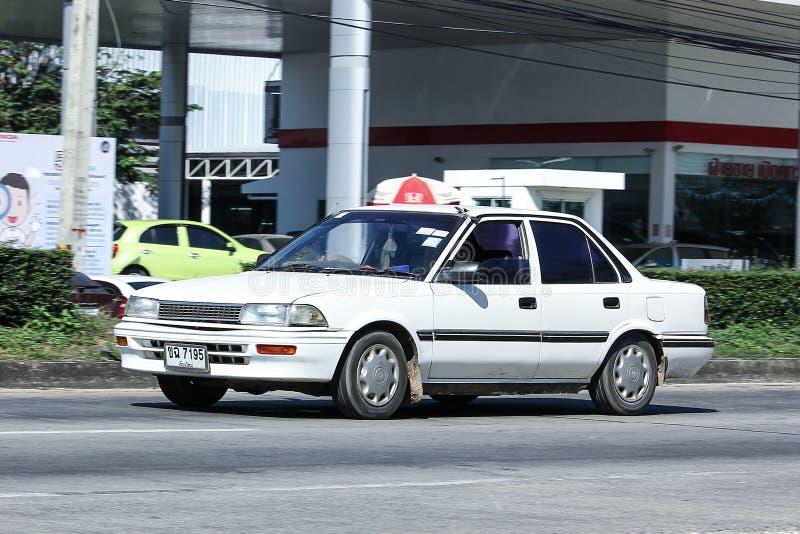 Carro velho privado, Toyota Corolla foto de stock