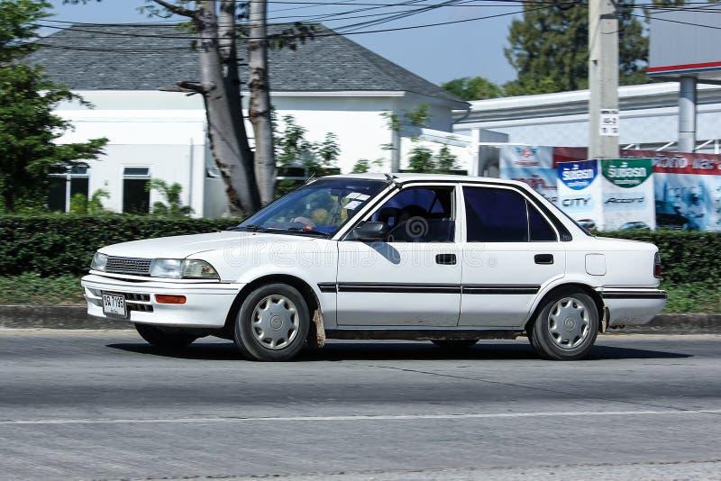 Carro velho privado, Toyota Corolla imagens de stock