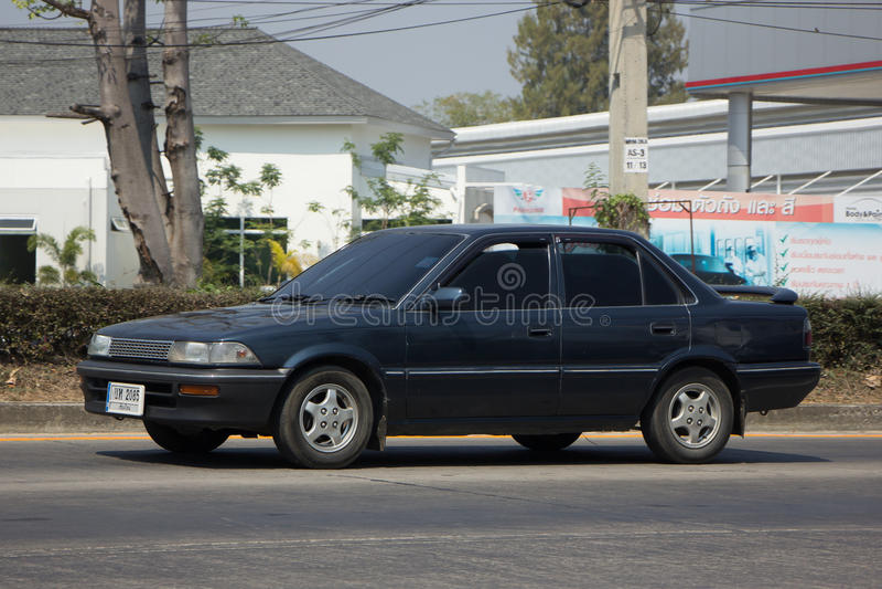 Carro velho privado, Toyota Corolla imagens de stock royalty free