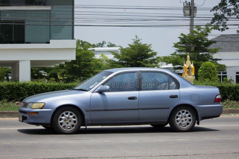 Carro velho privado, Toyota Corolla imagem de stock