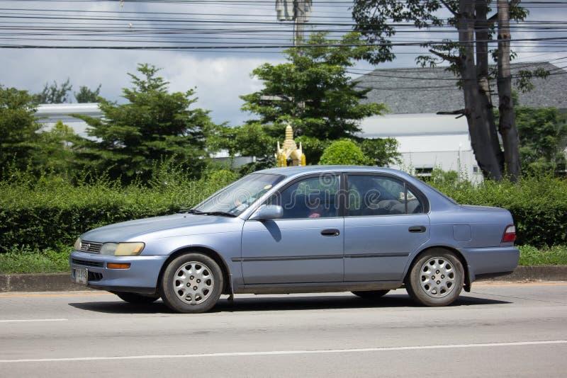 Carro velho privado, Toyota Corolla foto de stock royalty free