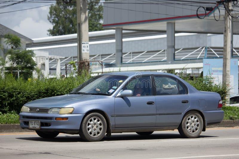 Carro velho privado, Toyota Corolla fotografia de stock