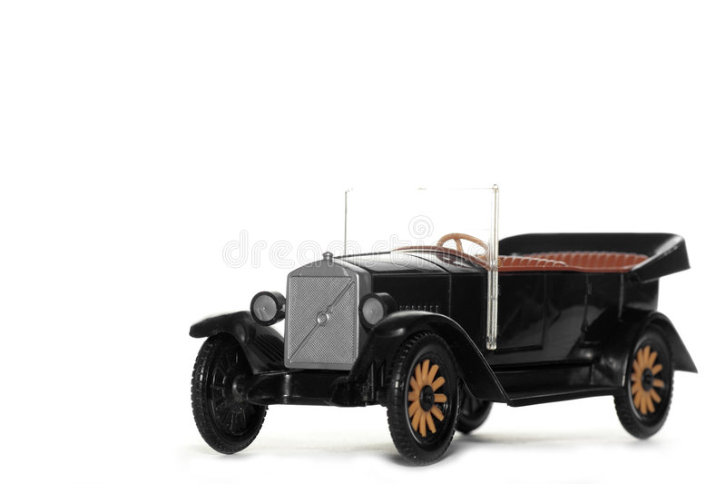 Carro velho Volvo Jakob 1927 do brinquedo fotografia de stock