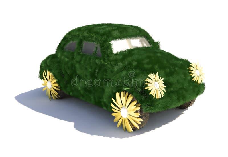 Carro verde ilustração do vetor