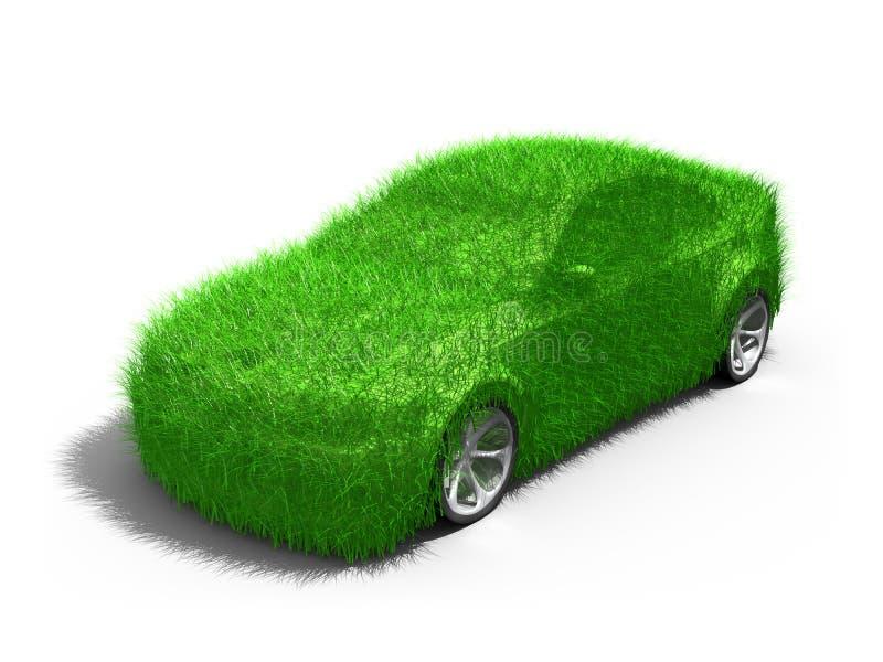 Carro verde ilustração stock