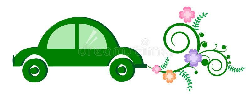 Carro verde de ECO ilustração stock