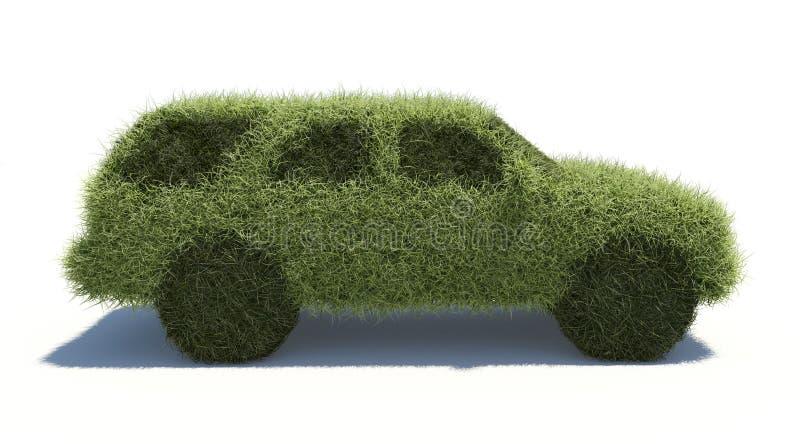 Carro verde do conceito. Combustível limpo. ilustração stock