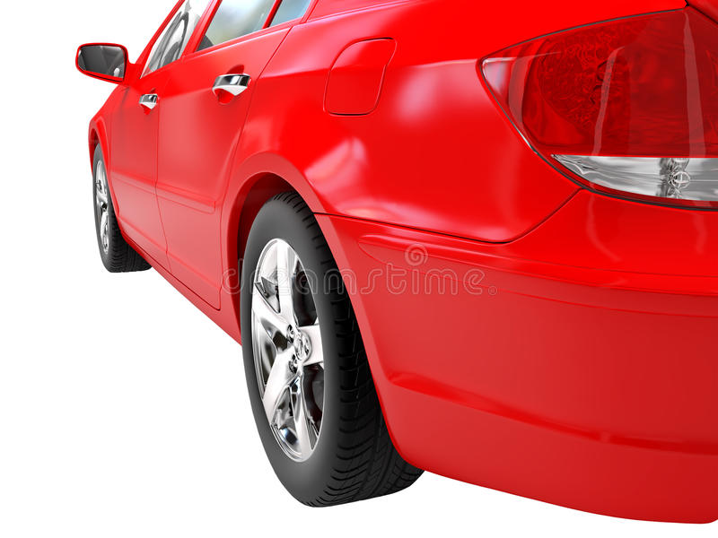 Download Carro vermelho ilustração stock. Ilustração de moderno - 12809746