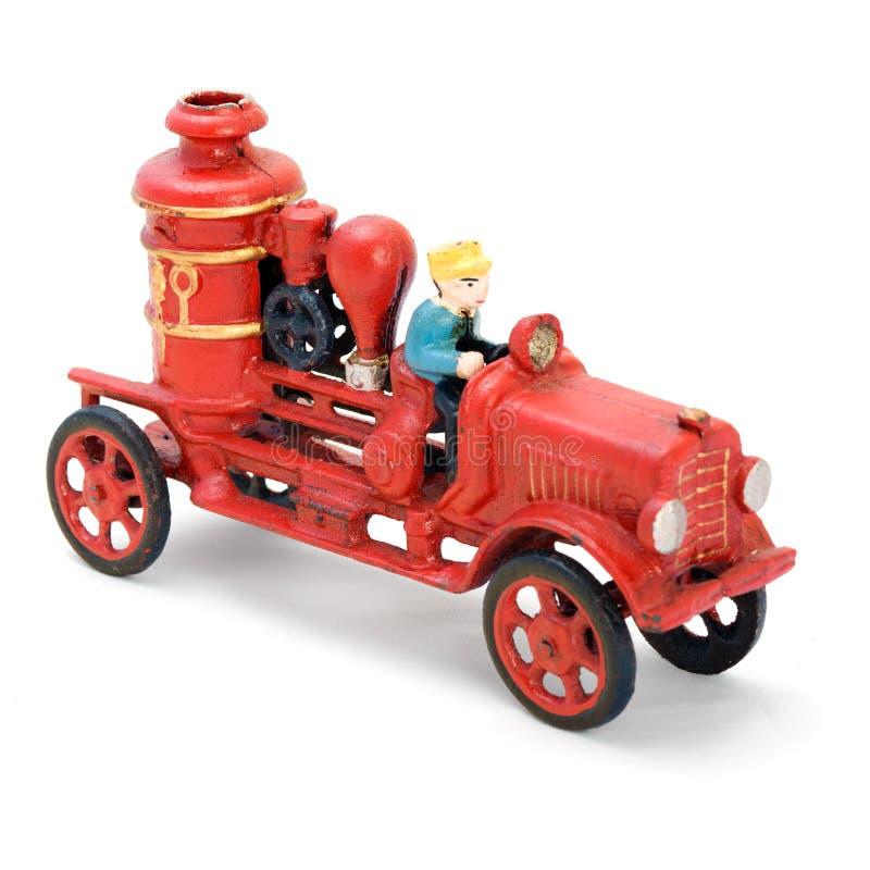Carro vermelho antigo da conclusão foto de stock