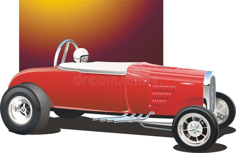 Carro vermelho do arrasto ilustração do vetor