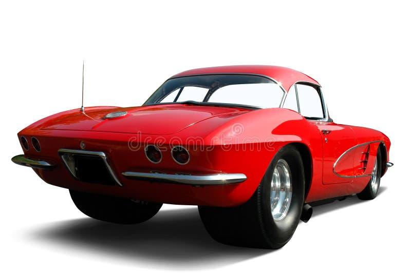 Carro vermelho do arrasto de Corveta foto de stock