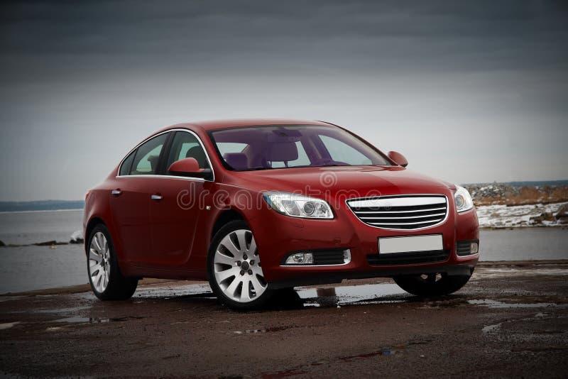 Carro vermelho do negócio foto de stock royalty free