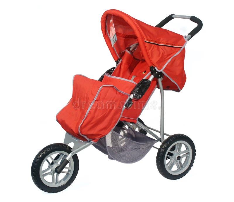 Carro vermelho em 3 rodas foto de stock royalty free