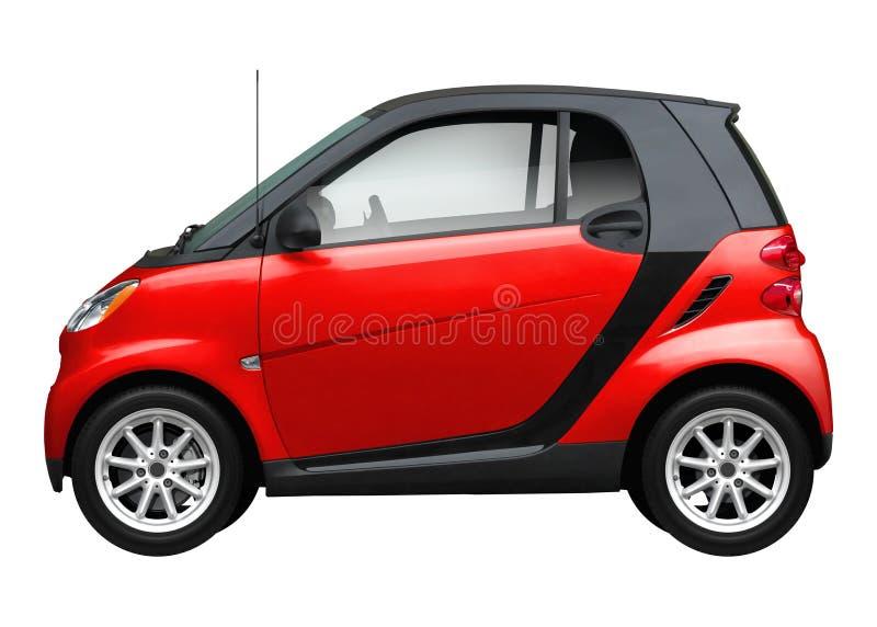 Carro vermelho pequeno moderno ilustração do vetor