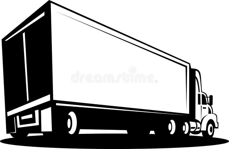 Carro y acoplado del envase stock de ilustración
