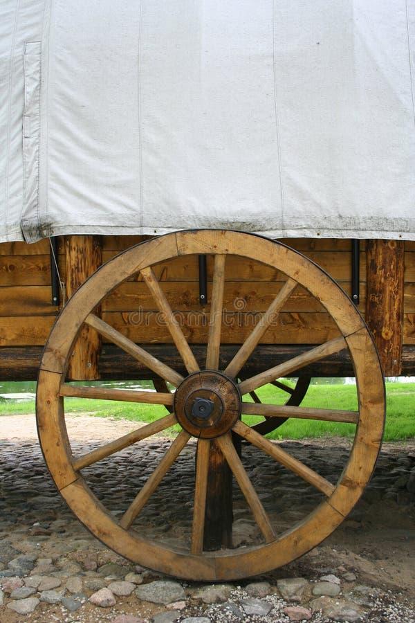 Carro y rueda imagen de archivo