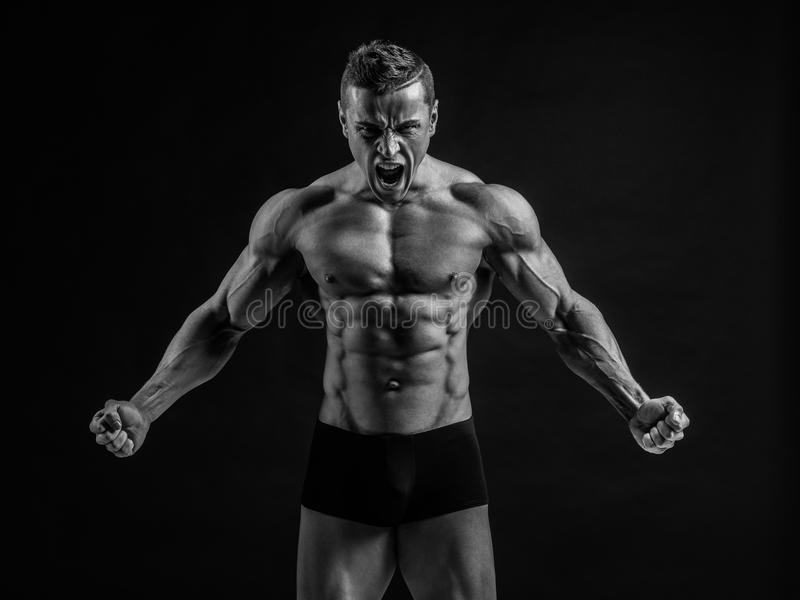 Carrocería muscular imagenes de archivo