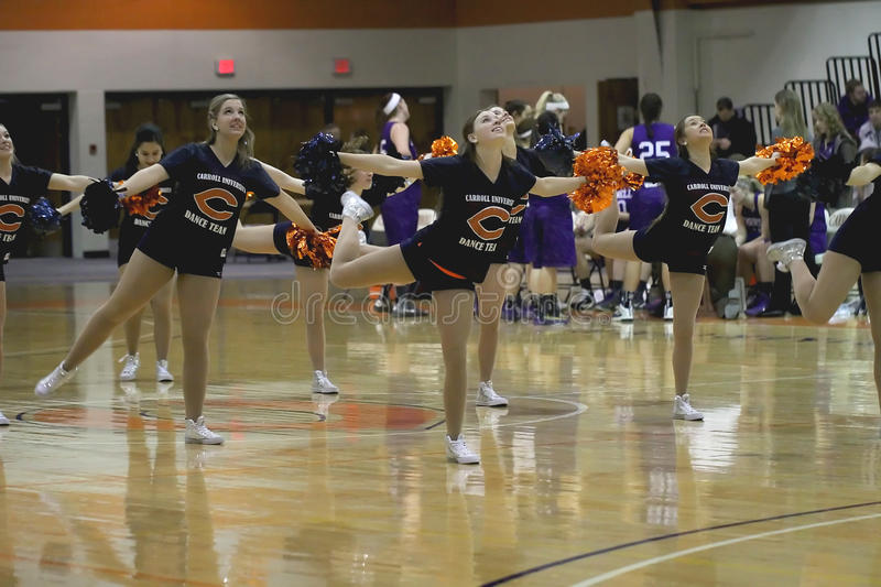 Carroll University Dance Team stockbild