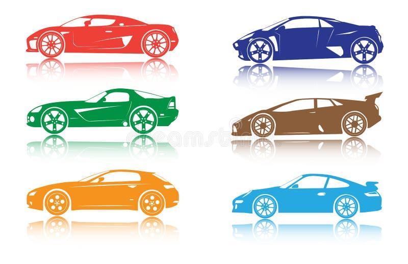 Carros ilustração royalty free