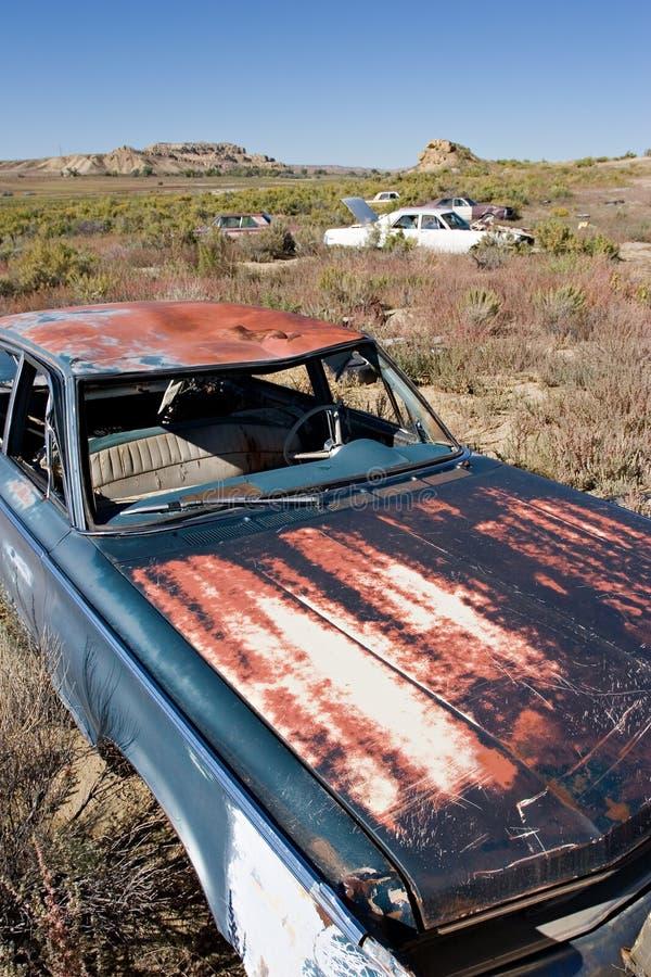 Carros abandonados fotografia de stock royalty free