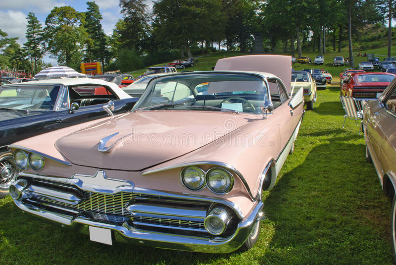Carros americanos clássicos (rodeio 59) imagens de stock royalty free