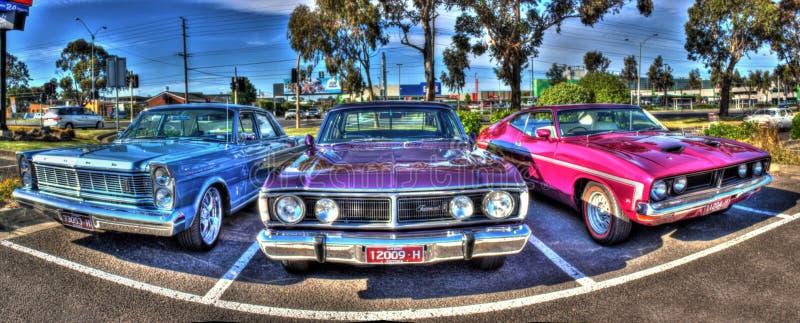 Carros australianos clássicos foto de stock