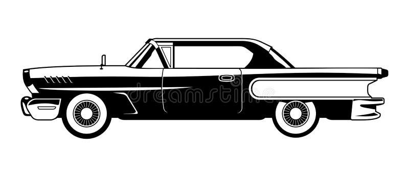 Carros clássicos - 60s ilustração stock